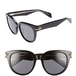 Rag & Bone Polarized Round Sunglasses 54mm